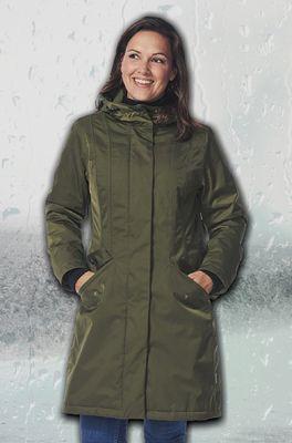Happy Rainy Days jas oslo dobby canvas groen