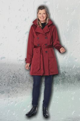 Happy Rainy Days jas rio satin rood