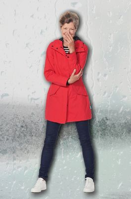 Happy Rainy Days jas rosa parka rood