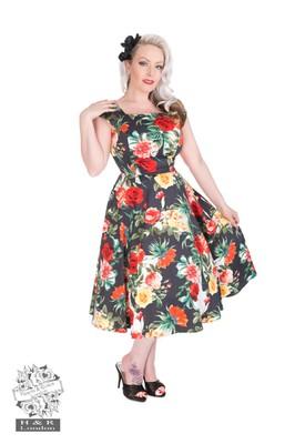 Hearts & Roses jurk vintage multi