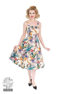 Hearts & Roses jurk pansies multi