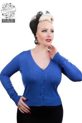 Hearts & Roses vest plain blauw