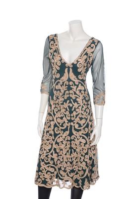 Hunza jurk forrest gold