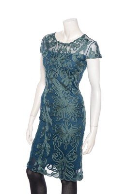 Hunza jurk capsleeve peacock