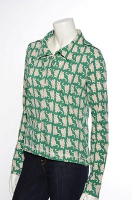 iez! shirt cat groen