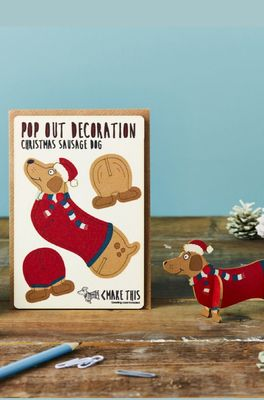 Isa cards & gifts kaart xmas sausage dog