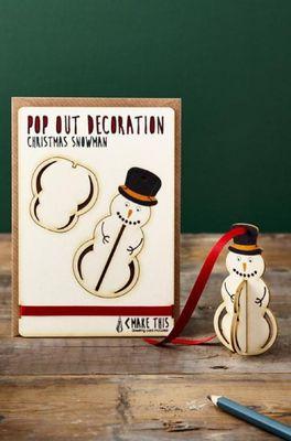 Isa cards & gifts kaart xmas snowman hanging
