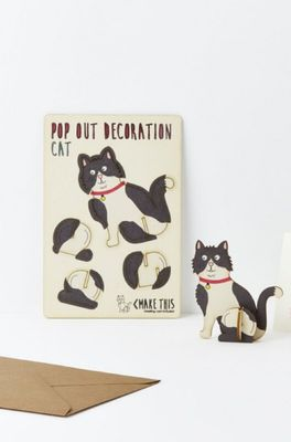 Isa cards & gifts pop out kaart cat b & w
