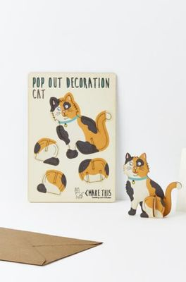Isa cards & gifts pop out kaart cat calico