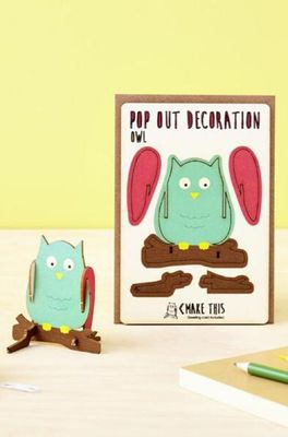 Isa cards & gifts pop out kaart owl