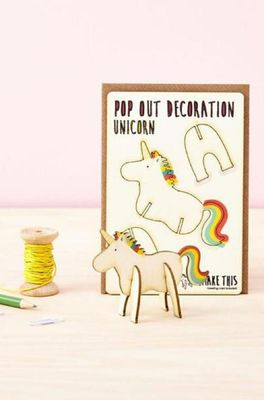 Isa cards & gifts pop out kaart unicorn