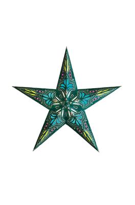 Starlightz kerstster Turquoise en blauw