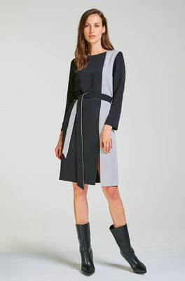 Kala jurk dress multicolor zwart