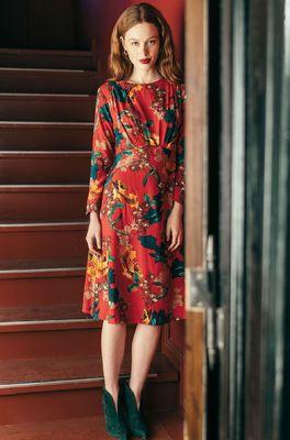 Kala jurk dress rood rood