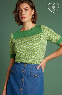 King Louie top bella knit diego groen