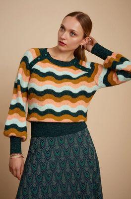 King Louie trui sandou sailor knit top multicolor