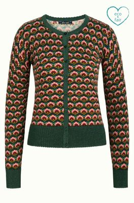 King Louie vest muffin cardi roundneck multicolor