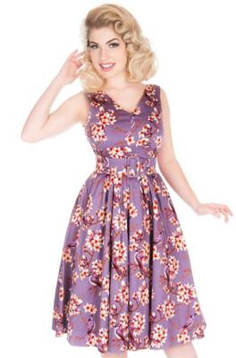 Lady V jurk belle dress paars