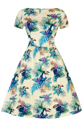 Lady V jurk eloise blauw