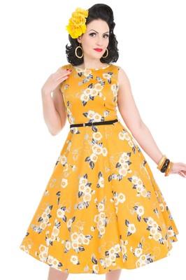 Lady V jurk hep geel