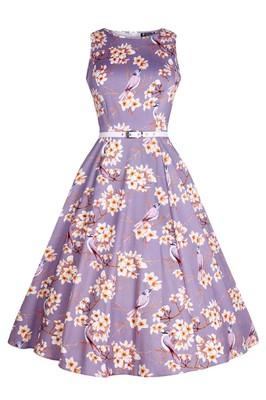 Lady V jurk hep paars
