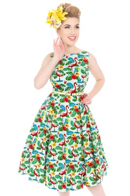 Lady V jurk hepburn flamingo