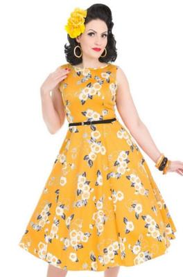 Lady V jurk heburn dress geel