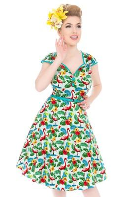 Lady V jurk isabella flamingo