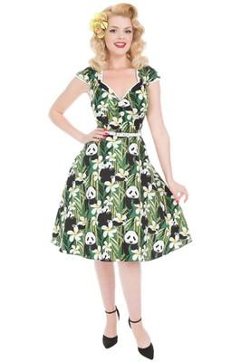 Lady V jurk isabella groen