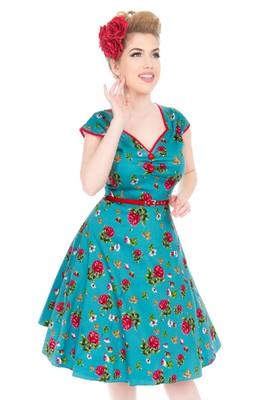 Lady V jurk isabella petrol
