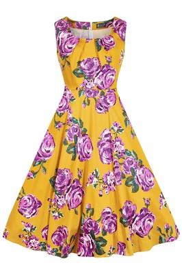 Lady V jurk jasmine geel