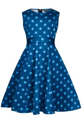 Lady V jurk hep blauw