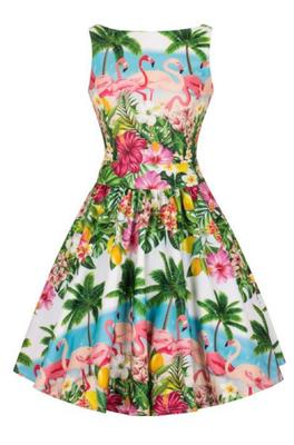 Lady V jurk tea dress blauw