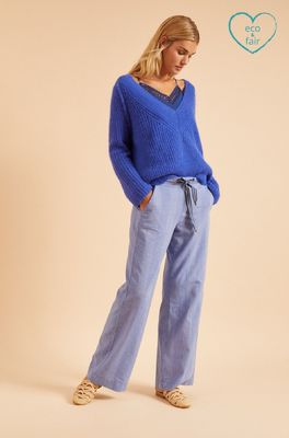 Lanius broek marlenehose blauw