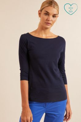 Lanius shirt u-bootshirt blauw
