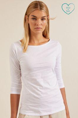 Lanius shirt u-bootshirt wit
