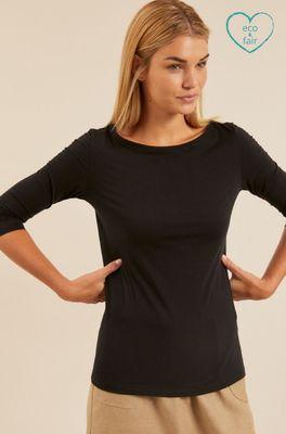 Lanius shirt u-bootshirt zwart