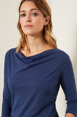 Lanius shirt wasserfall blauw