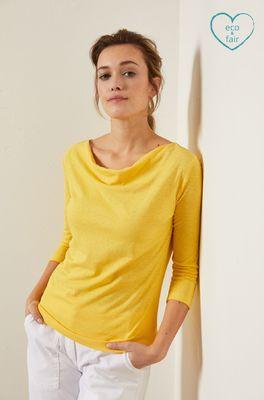 Lanius shirt wasserfall geel