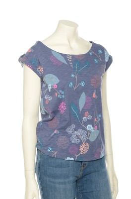 Lily & Me shirt surfside grey floral