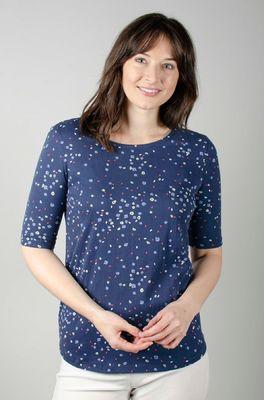 Lily & Me t shirt rockpool top appleblossom navy