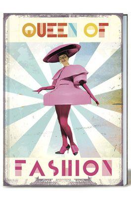 Lip International notitieboek queen of fashion multicolor