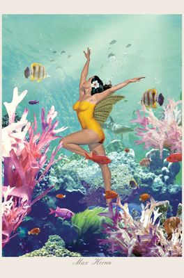 Lip International poster underwater girl   multicolor