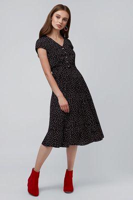 Louche jurk cathleen zwart