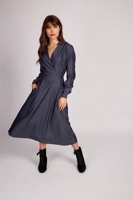 Louche jurk sandrina blauw