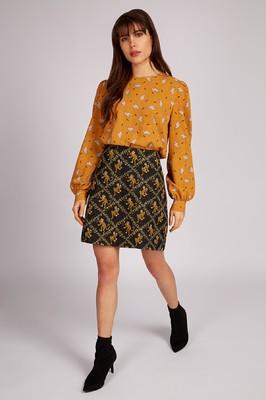 Louche rok aubin geel