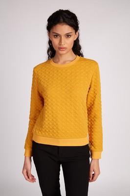 Louche trui jan geel