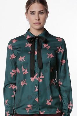 Mademoiselle Yeye bloes groen
