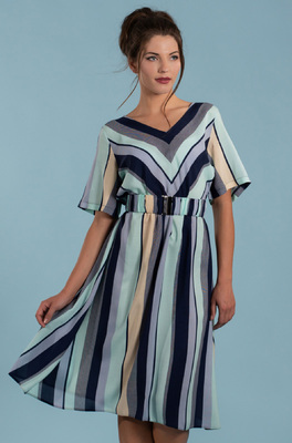Mademoiselle Yeye jurk multicolor