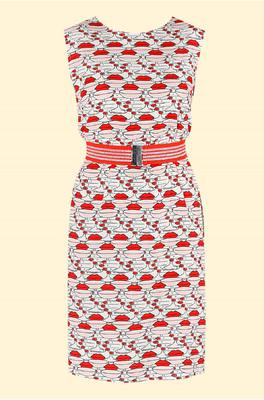 Mademoiselle Yeye jurk rood